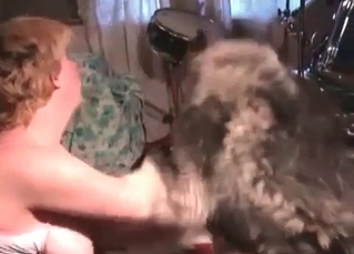 Sweet Husky licks a wet vagina