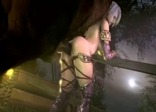Anime-like 3D babe gets fucked